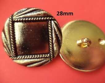4 Big buttons 28 mm Gold (6689) button coat