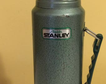 Vintage Stanley Aladdin Thermos Quart Metal Container Coffee/Hot Drinks Thermos Made In USA