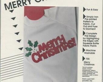 Merry Christmas Eas On Applique Kit