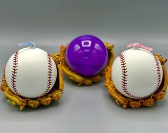 Exploding Baseball Gender Reveal Ball Blue and Pink