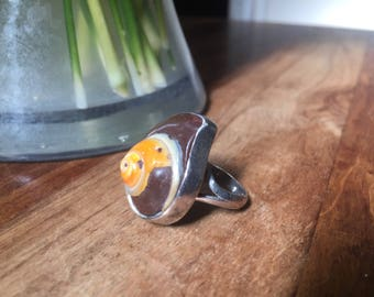 Sea Shell Sterling Silver Ring