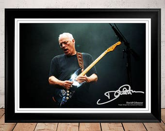 David Gilmour Rattle That Lock Autographed Signed Photo Print