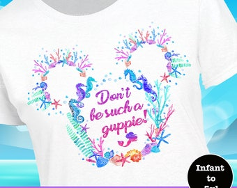Little Mermaid Shirt, Flounder Shirt, Ariel Shirt, Guppy Shirt, Ariel Tank, Flounder Tank, Little Mermaid Tank, Guppy Tank