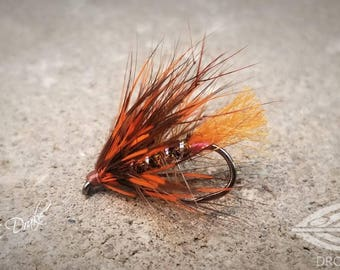 Orange and Chocolate Irish Wet Fly - Fly Fishing Flies
