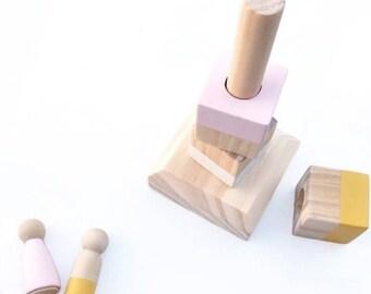 Wooden stacking blocks - Nursery decor, kids room decor, wooden toy