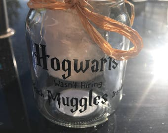 Inspired mason jar Harry Potter holder teacher decor