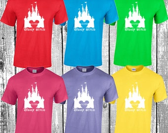 Disney World matching t shirts 2018 family vacation scree printed magic kingdom epcot hollywood studios animal kingdom