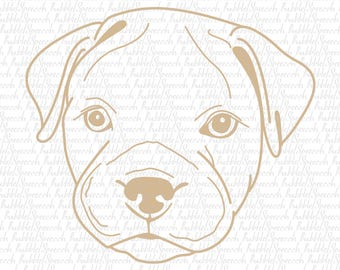 Pit bull Puppy Light Clipart, Dog Ai vector art by SpeecchBubble