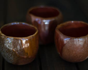 Lava Cups - wood fired yunomi cups
