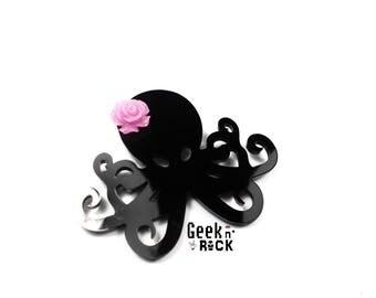Octopus squid octopus kraken tentacle seabed flower brooch