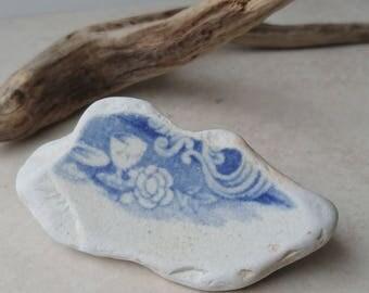 Goblet Sea Pottery, Sea Pottery, Beach Pottery, Pottery Shard, Collectable Shard, Collectible Shard, Sea Pottery Supply, Bits of Pottery