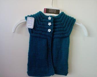 Bottle green vest 3 months