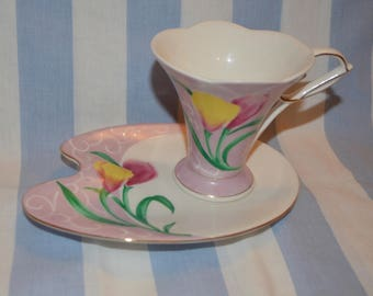Old Tupton Ware Tea cup and saucer set, sandwich set, petits fours tea cup and saucer,