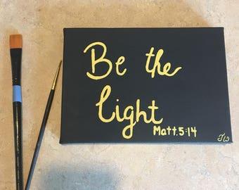 Be the light, original canvas