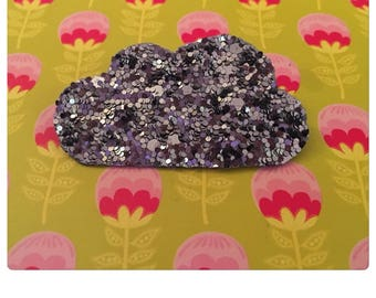 """✨✨Mettez glitter in your life with this brooch """""""" canvas gray glitter"""