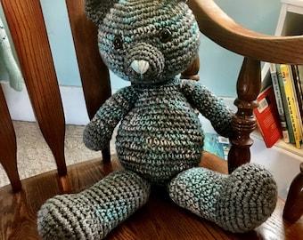 Crochet Plush Teddy Bear, Children's Teddy Plushie, Plush Teddy Bear