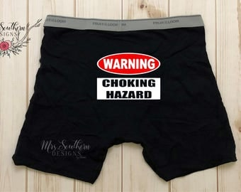 SALE Valentine's Day Gift for Husband, Funny Boxer Brief Sayings, Custom Boxer Shorts, Personalized Boxer Shorts, Gifts for Him