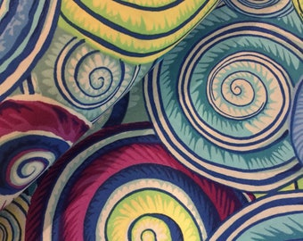 Spiral Shells Fabric - Phillip Jacobs Kaffe Fassett for FreeSpirit - CT884424182241 - 100% High Quality Cotton by the Yard