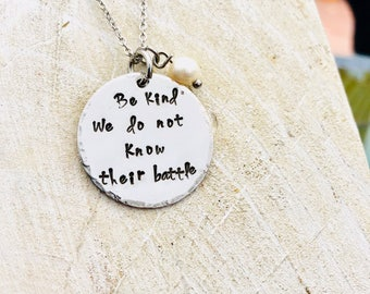 Be kind . We don't know their battle