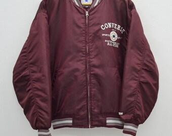 CONVERSE Jacket Vintage 90's Converse Chuck Taylor All Star Zipper Bomber Jacket Size L