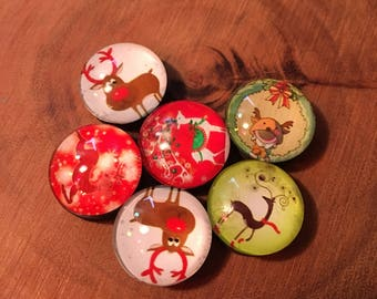 Christmas Button Magnets