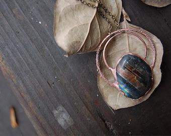 Copper & Labradorite Statement Necklace