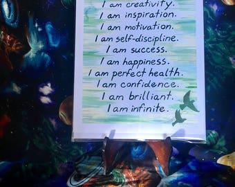 """Print: """"I Am / Affirmations"""""""
