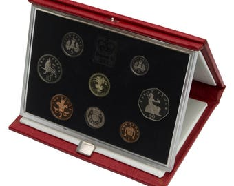 1990 Royal Mint Proof Set Red Leather Deluxe