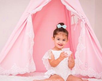 Lace Teepee, girls teepee, Teepee , kids teepee , teepee tent, canvas teepee, nursery decoroors, girl teepee, princess gift, baby girl  gift