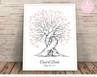 fingerprint tree wedding guest book, fingerprint tree printable, finger print tree, wedding tree, fingerprint tree, Wedding Guest Book Ideas