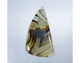 Montana Agate Gemstone Cabochon Fancy Shape Excellent Montana Agate For Jewelry Making 43Cts 46X24X5mm