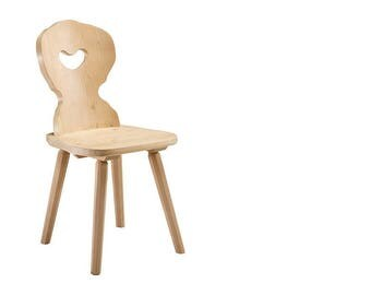European Made Farmhouse Chair Solid Wood Amberg Alp Style 1 chair