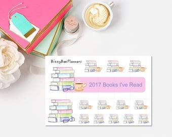 Reading Tracker-Book Planner Stickers