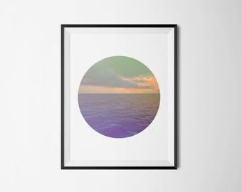 Ocean Clouds, Instant Download Digital Art, Printable Art, Wall Decor