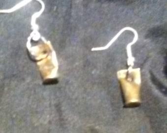 Bullet casing earrings