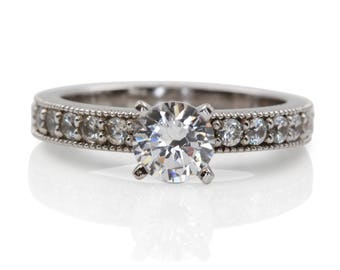 White Gold Diamond Engagement Ring with Real Meaning | U418