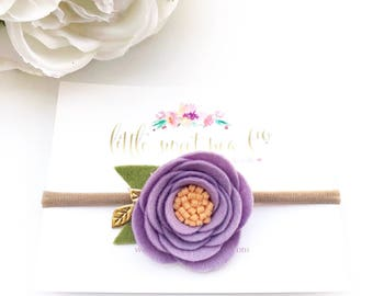 Felt Flower Headband, Felt Rose Headband , Felt Flowers