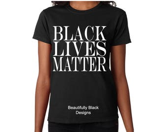 Melanin Women's T Shirt- Personalized/Custom-Black Lives Matter Woman's Topography Design