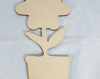 105mm blank mdf flower ready to be Painted. Ready to be Decorate  add Humorous words poams arts and craft project. Creative craft art projec