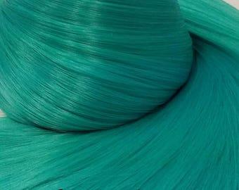 Hatsune Green Teal Green Blue Nylon Doll Hair Re-rooting Re-Hairing Hank My Little Pony Fashion Doll Monster Rooting Hair DIY Custom OOAK