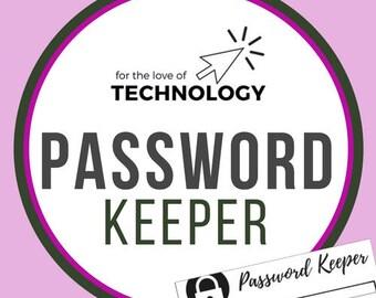 Password Keeper, Password Log, Password Notebook, Password Tracker Printable, Password Organizer