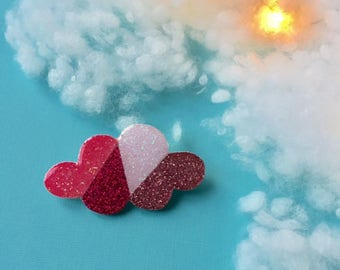 """Brooch rose """"Cloud in four shades"""""""