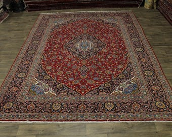 Stunning Traditional S Antique Red Kashan Persian Area Rug Oriental Carpet 10X13