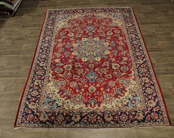 Nice Antique Traditional Najafabad Isfahan Persian Area Rug Oriental Carpet 8X11