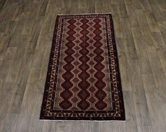 Stunning Pattern Handmade Balouch Persian Rug Oriental Area Carpet Sale 3'5X7