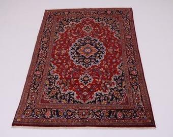 Gorgeous Unique Great Shape Mashad Persian Wool Rug Oriental Area Carpet 6X10
