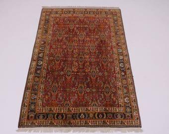 Amazing Unique Tribal Ghashghaie Shiraz Persian Rug Oriental Area Carpet 5X8