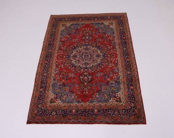 Gorgeous Traditional Vintage Sabzevar Persian Rug Oriental Area Carpet 6'5X9'5