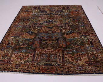 Astonishing Hunting Design Plush Kashmar Persian Rug Oriental Area Carpet 10X13