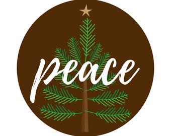 Print-Your-Own Christmas Peace Love & Joy Cards